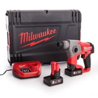 Perforateur burineur MILWAUKEE M12 CH-602X (2x6ah)